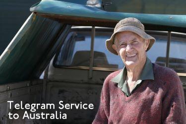 how to send a telegram in australia
